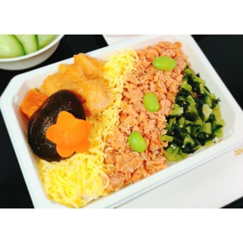 紅鮭の彩りご飯