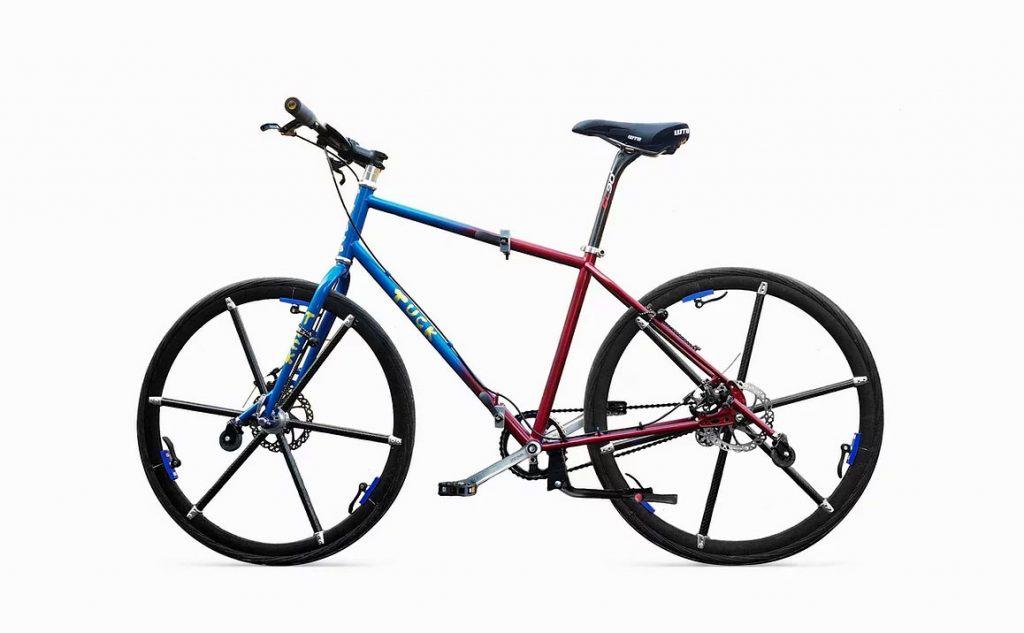 タイヤもおりたためる自転車